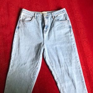Light wash pacsun mom jeans